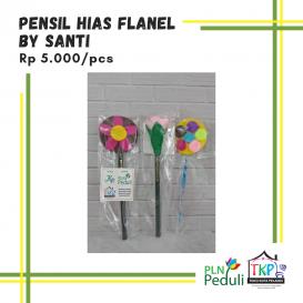 Pensil Hias Flanel By Santi